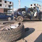 ACCIDENT – Sofer incatusat dupa ce a provocat un grav accident de circulatie in zona Metro Baia Mare (VIDEO)