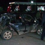 ACTUALIZARE – ULTIMA ORA – ACCIDENT – Trenul Rapid spre Bucuresti a lovit in plin, la Hideaga, un autoturism condus de un politist baimarean (VIDEO)