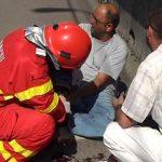 ACTUALIZARE – ACCIDENT – Motociclist lovit de o masina pe bulevardul Bucuresti (VIDEO)