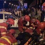 ACCIDENT – Soferul unei Dacia 1310 a vrut sa treaca prin sensul giratoriu de la Real Baia Mare (VIDEO)