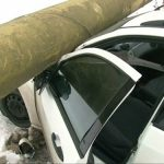 ACTUALIZARE – ACCIDENT – O masina s-a infipt in magistrala de gaz de pe bulevardul Independentei (VIDEO)