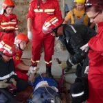 ACTUALIZARE – ACCIDENT –  Un planseu de la Spitalul Judetean s-a prabusit peste trei muncitori (VIDEO si GALERIE FOTO)