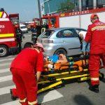 ACTUALIZARE – ACCIDENT GOLD PLAZA – Femeie ranita dupa ce un TIR a intrat in masina in care se afla (VIDEO)