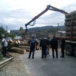 CITITORII IN ACTIUNE – Zeci de busteni transportati de un camion s-au imprastiat pe DN 18 (VIDEO)