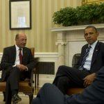 CASA ALBA – Basescu s-a intalnit cu Obama pret de 30 de minute (GALERIE FOTO)