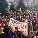 ACTUALIZARE 3 – PROTEST – Angajatii de la Romplumb Baia Mare intr-un nou mars al disperarii (VIDEO)