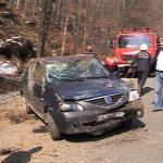 ACTUALIZARE – ACCIDENT – Un sofer s-a rasturnat cu masina pe DN 18, la iesire din Baia Sprie (VIDEO)
