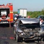 ACTUALIZARE – ACCIDENT IN LANT – Trei masini avariate, dupa o coliziune produsa la intrarea in Baia Mare (GALERII VIDEO si FOTO)