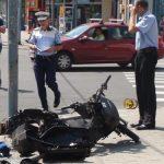 ACTUALIZARE – ACCIDENT – Scuterist ranit la intersectia bulevardului Bucuresti cu strada Culturii din Baia Mare (GALERII VIDEO si FOTO)