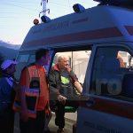 ACTUALIZARE – ACCIDENT – Un taximetrist s-a rasturnat cu masina in sant, langa Italsofa Baia Mare, dupa ce evitat un barbat aflat pe drum (GALERIE VIDEO)