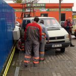 ACTUALIZARE – ACCIDENT – O autoutilitara a rupt o conducta de gaz de pe strada Electrolizei din Baia Mare (GALERII VIDEO si FOTO)