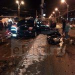 ACTUALIZARE – ACCIDENT – Doi morti si doi raniti dupa ce un BMW s-a rupt in doua dupa pasajul CFR din Baia Mare (GALERII VIDEO si FOTO)