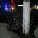 IMAGINI SOCANTE – Patru tineri, implicati intr-un grav accident la Somcuta. Soferul, care a lovit cu motocicleta un politist, avea permisul retinut (VIDEO)