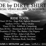 CONCERTE – Turneu national al trupei Dirty Shirt, pentru promovarea celui mai nou videoclip
