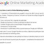 GOOGLE – Incep inscrierile in programul Online Marketing Academy