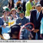 TRADITIONAL – Merkel si Obama, intampinati cu bere si carnati traditionali inainte de summitul G7 din Alpii bavarezi