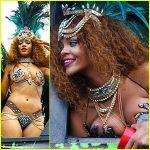 """EXTRAVAGANTA – Rihanna si costumul sau de baie fantezie au facut furori la """"carnavalul"""" din Barbados"""