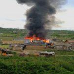 Două case de pe Craica, în flăcări
