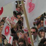 La protest ! Zeci de sindicalişti Sanitas din Maramureş protestează în capitală