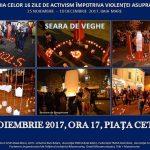 Campaniei  impotriva Violenţei Asupra Femeii ! Seara de veghe in Piata Cetatii din Baia Mare
