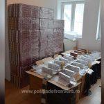 Zeci de mii de pachete cu țigări de contrabandă confiscate la frontiera cu Ucraina