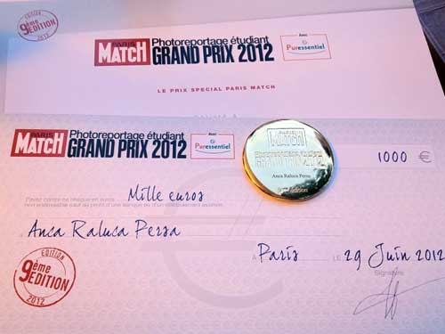 Baimareanca Anca Persa, premiata de Paris Match