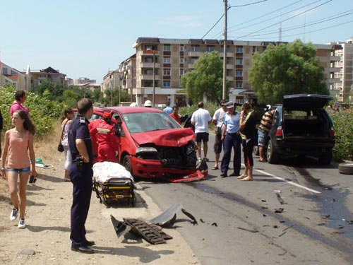Foto: accident Dan Hotico - Baia Mare (c) eMaramures.ro