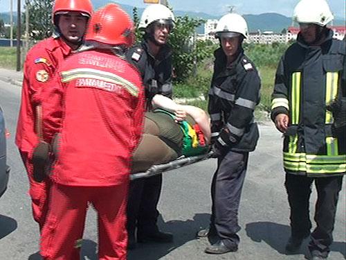 Foto: accident de circulatie - Unirii, Baia Mare (c) eMaramures.ro
