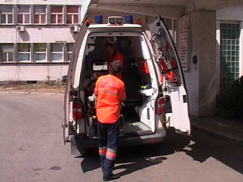 Foto: accident - transport victima Ambulanta Maramures - UPU Baia Mare (c) eMaramures.ro
