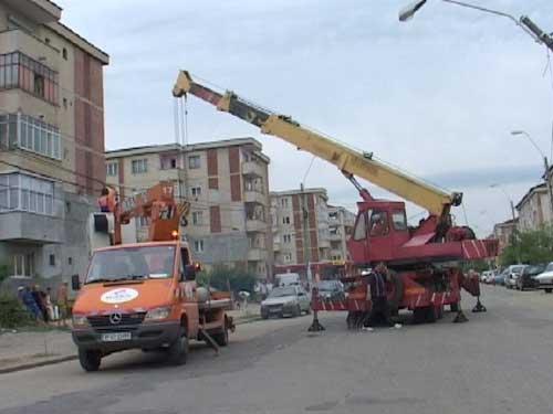 Foto: lucrari pe strada Granicerilor Baia Mare