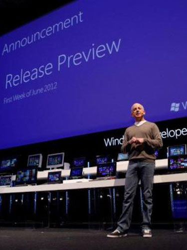 Foto: lansare Windows 8 (c) geekwire.com