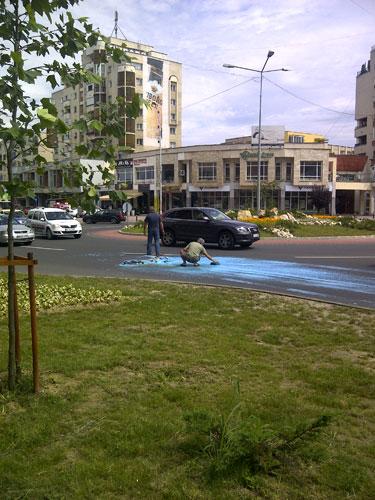Foto: drum albastru - bulevardul Unirii Baia Mare (c) eMaramures.ro