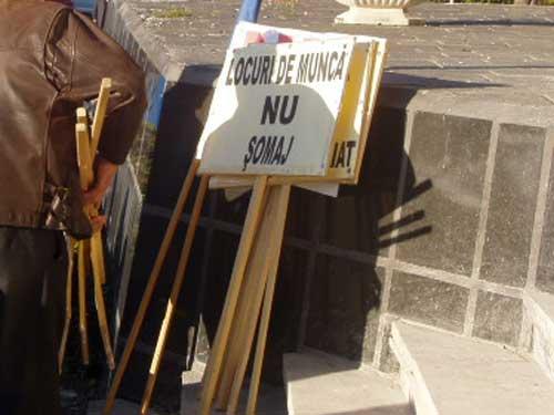 Protest pancarte Maramures