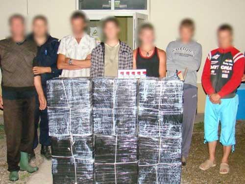 Foto: contrabanda Rona de Sus - Politia de Frontiera Sighetu Marmatiei