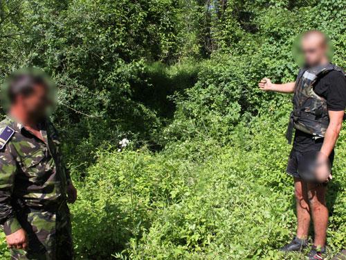 Foto: contrabanda - ucrainean prins pe Tisa