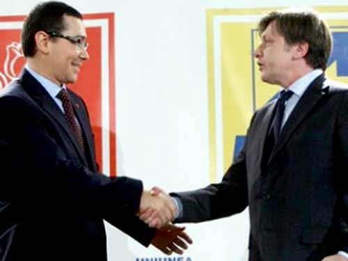 Foto: Ponta si Antonescu