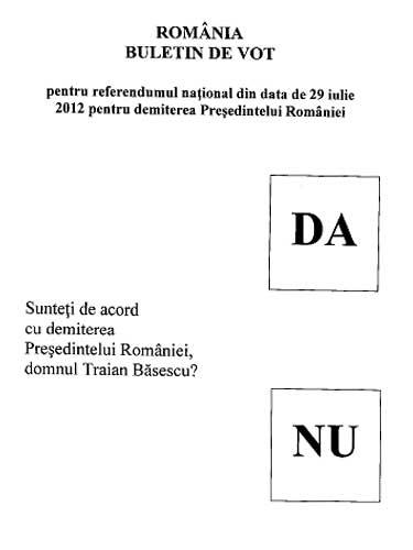 Buletin de vot pentru referendum (c) eMM.ro