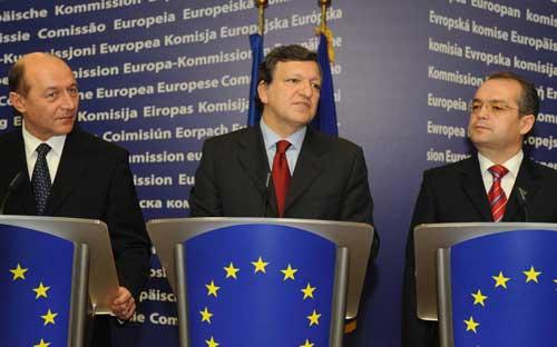 Foto Basescu, Barosso si Boc