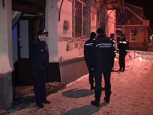 Foto: EXPLOZIE - Deflagratie intr-un club din Sighetu Marmatiei
